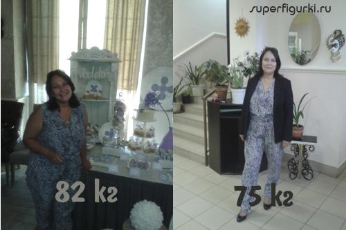 Фото Натальи до и после похудения