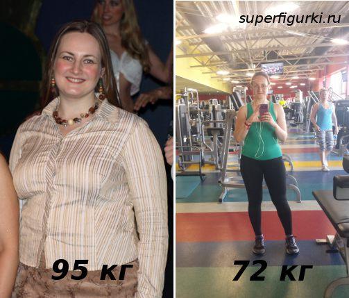 Фото до и после похудения Евгения Синкевич