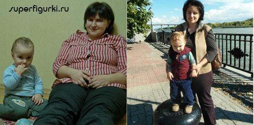 Фото Оксаны до и после похудения