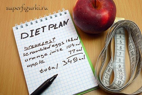 как вести пищевой дневник для похудения