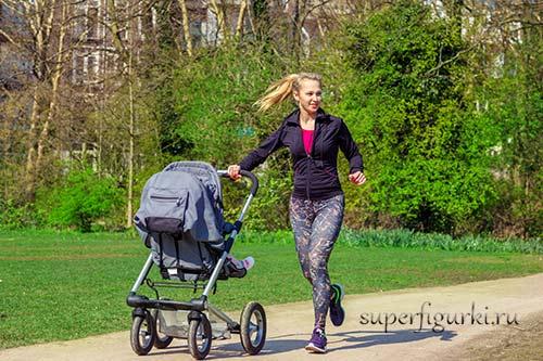 фитнес для мамы с ребенком на улице